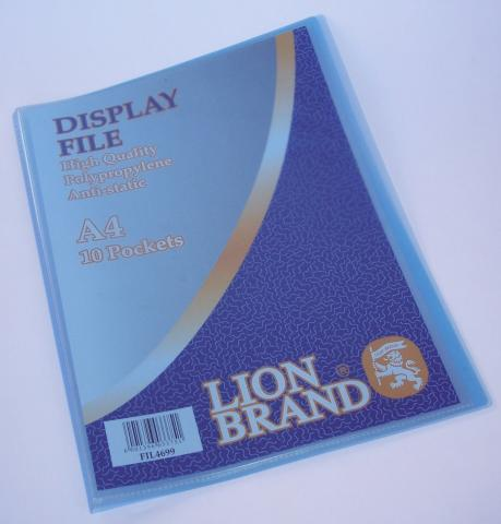Display file 10 pockets