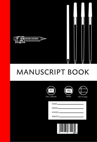 Hard cover manuscript book