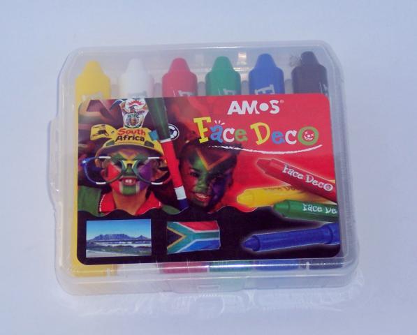 Amos face deco crayons