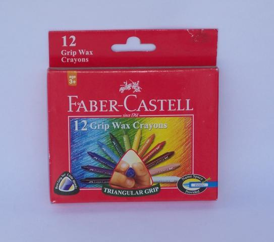 Faber grip wax crayons