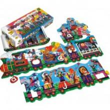 Smile Alphabet Train Floor Puzzle